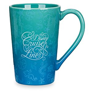 Disney Cruise Line Ocean Blue Latte Mug