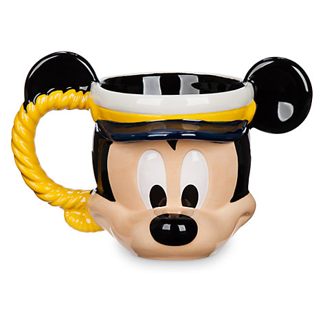 Captain Mickey Mouse Sculptured Mug - Disney Cruise Line