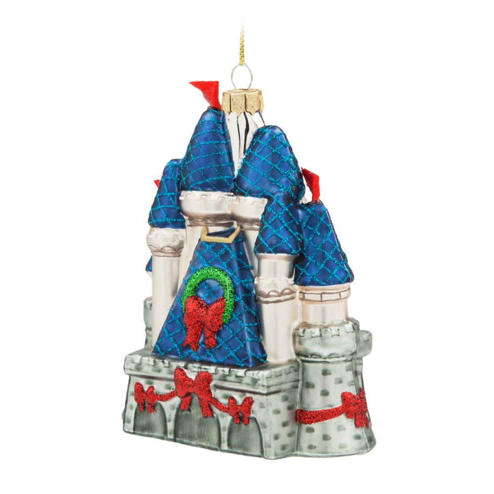 Fantasyland Castle Glass Ornament