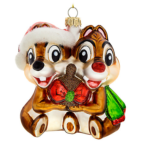 Chip 'n Dale Glass Ornament