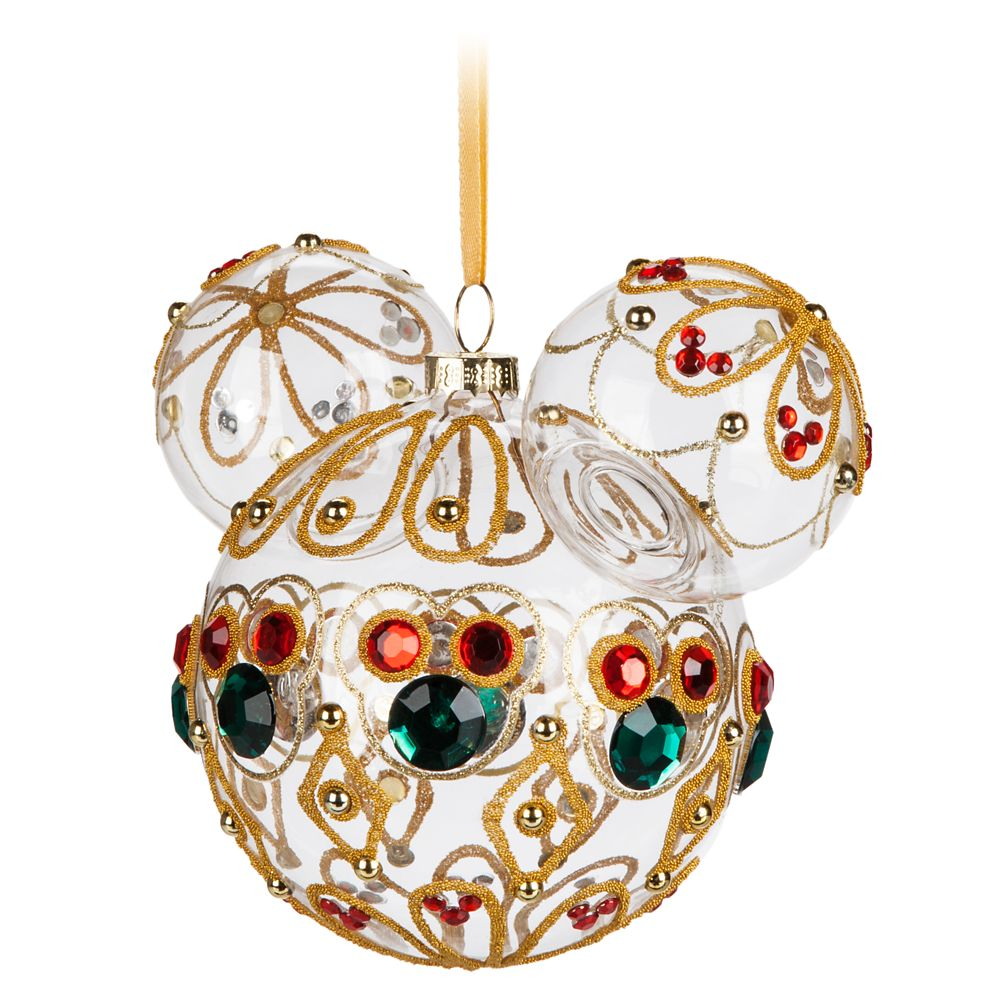 Mickey Mouse Icon Glass Ornament – Bejeweled
