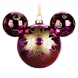 Mickey Mouse Icon Glass Ornament - Sunburst