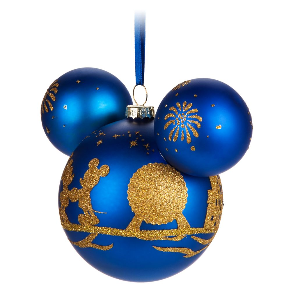 Mickey Mouse Icon Glass Ornament – Walt Disney World