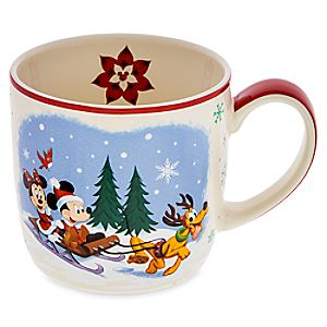 Santa Mickey Mouse and Friends Happy Holidays Mug