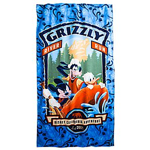 Mickey Mouse and Friends Beach Towel – Grizzly River Run – Disney California Adventure