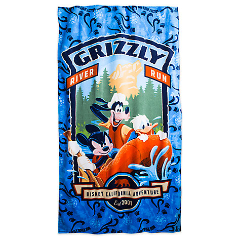 Mickey Mouse and Friends Beach Towel - Grizzly River Run - Disney California Adventure