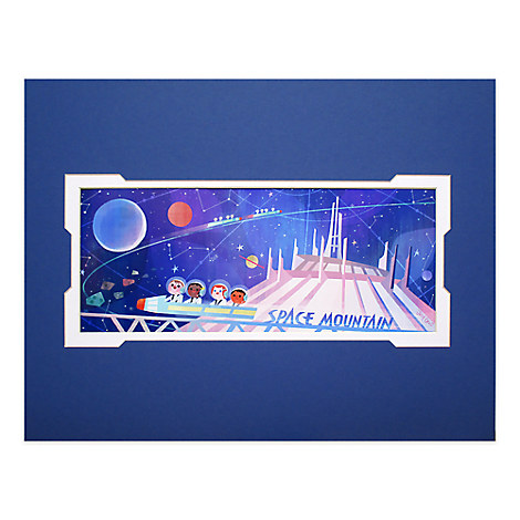 ''Space Mountain'' Deluxe Print by Joey Chou