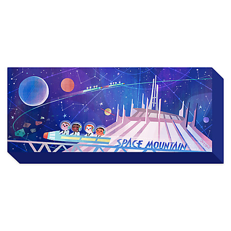 ''Space Mountain'' Limited Edition Giclée on Canvas by Joey Chou