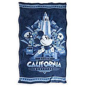 Disney California Adventure Fleece Throw