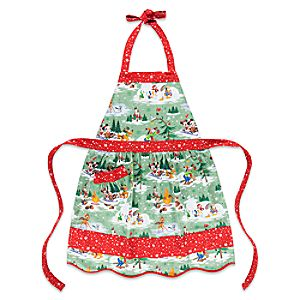 Santa Mickey Mouse and Friends Happy Holidays Apron