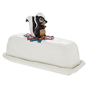 Flower Happy Holidays Butter Dish - Bambi