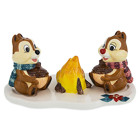 Chip 'n Dale Happy Holidays Salt and Pepper Set