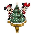 Santa Mickey and Minnie Mouse Happy Holidays Stocking Holder