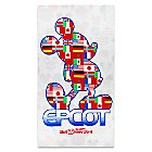 Mickey Mouse Epcot Beach Towel - Walt Disney World