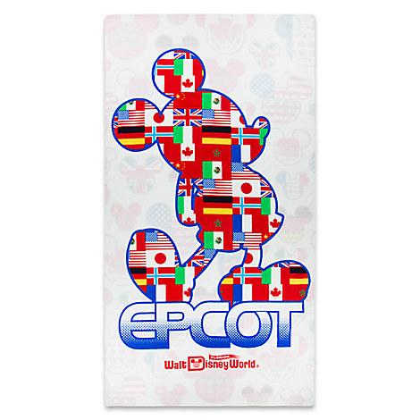 Mickey Mouse Epcot Beach Towel - Walt Disney World