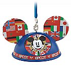 Mickey Mouse Epcot World Showcase Light-Up Ear Hat Ornament - Walt Disney World