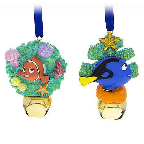 Nemo and Dory Jingle Bell Ornament Set
