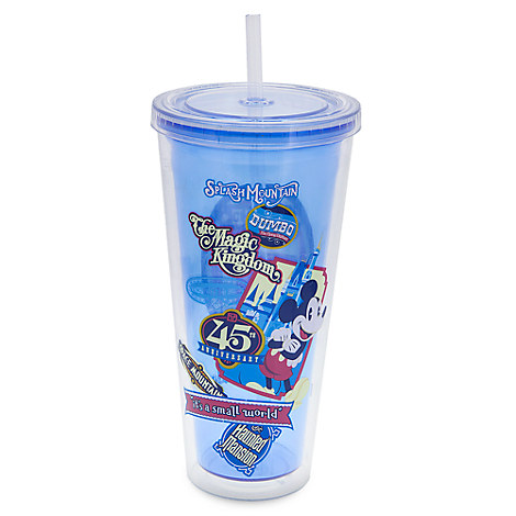 Mickey Mouse Magic Kingdom 45th Anniversary Tumbler with Straw - Walt Disney World
