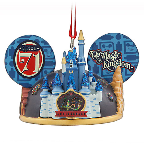 Magic Kingdom 45th Anniversary Light-Up Ear Hat Ornament - Walt Disney World