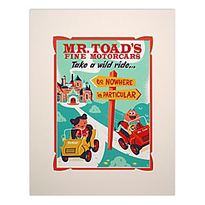 Mr. Toad's Wild Ride Retro Poster Deluxe Print