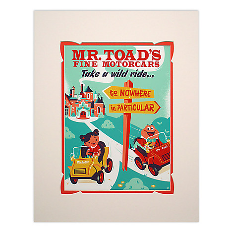Mr. Toad's Wild Ride Retro Poster Deluxe Print