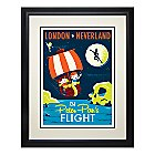 Peter Pan's Flight Retro Poster Deluxe Print - Framed - Limited Edition