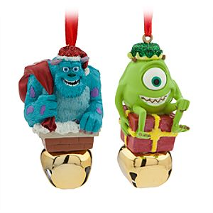 Sulley and Mike Wazowski Jingle Bell Ornament Set