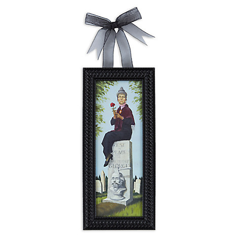 The Haunted Mansion Headstone ''Stretch Painting'' Framed Giclée on Canvas - Mini