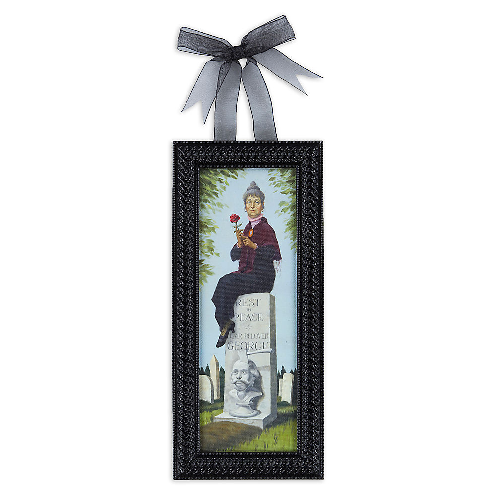 Haunted Mansion Headstone Stretch Painting Framed Gicl E On Canvas