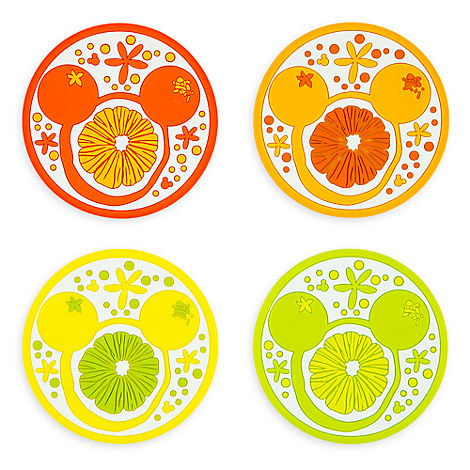 Mickey Mouse Icon Citrus Coaster Set