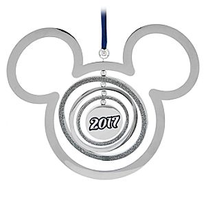 Mickey Mouse Icon Metal Mobile Ornament – Disney Parks 2017