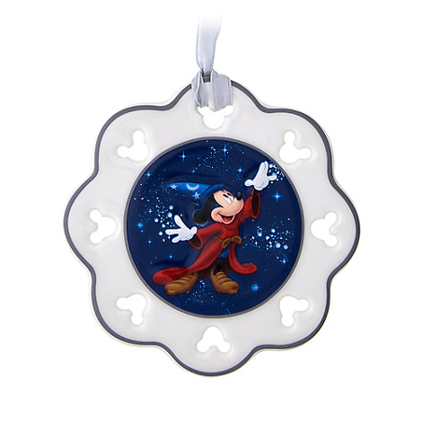 Sorcerer Mickey Mouse Snowflake Ornament - Walt Disney World 2017