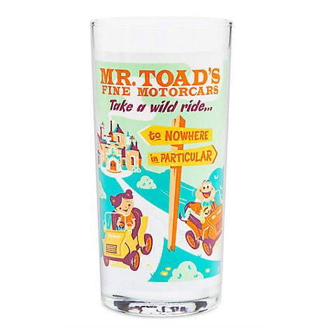 Mr. Toad's Wild Ride Retro Glass Tumbler