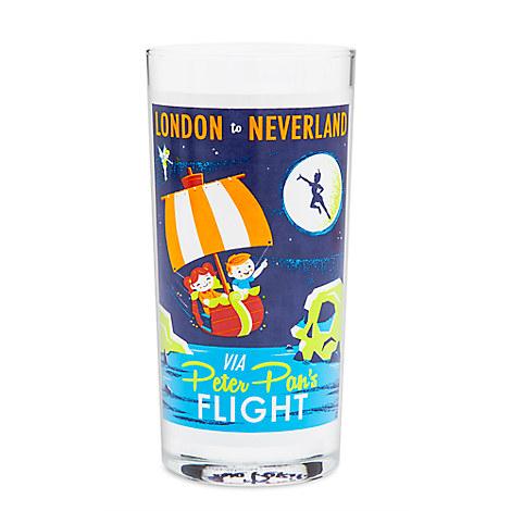 Peter Pan's Flight Retro Glass Tumbler