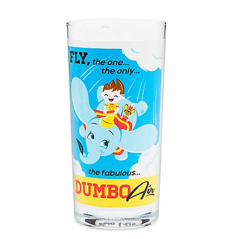 Dumbo the Flying Elephant Retro Glass Tumbler