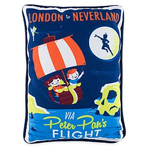 Peter Pan's Flight Retro Pillow