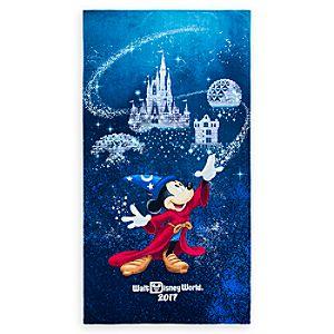 Sorcerer Mickey Mouse Beach Towel Walt Disney World 2017