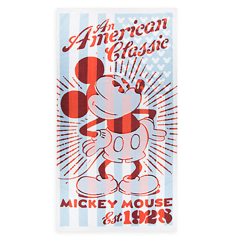 Mickey Mouse Flag Beach Towel