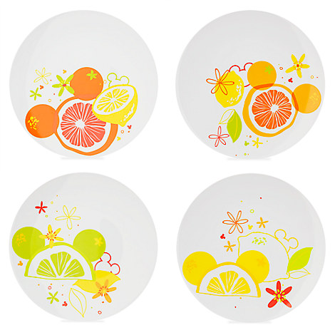 Mickey Mouse Citrus Plate Set