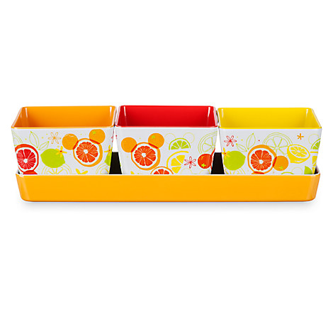 Mickey Mouse Icon Citrus Appetizer Serving Set