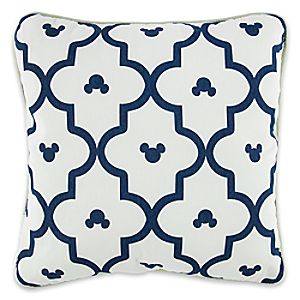 Mickey Mouse Geometric Print Pillow