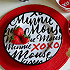 Minnie Mouse Dot Dinner Plate