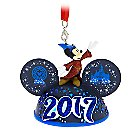 Sorcerer Mickey Mouse Light-Up Ear Hat Ornament - Disneyland 2017