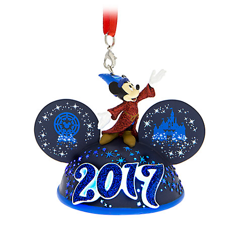 Sorcerer Mickey Mouse Light-Up Ear Hat Ornament - Disneyland 2017