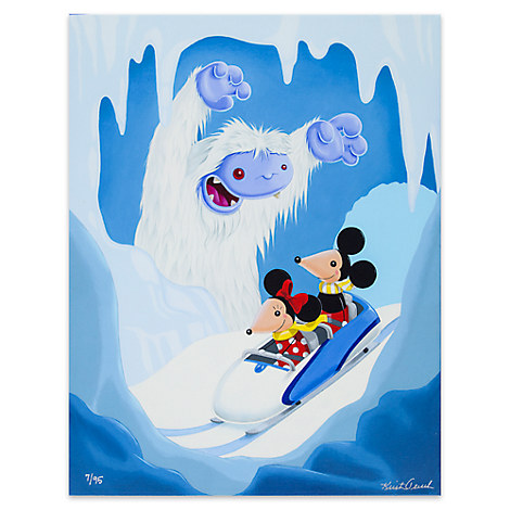 Mickey and Minnie Mouse ''Auf Wiedersehen'' Limited Edition Giclée by Kristin Tercek
