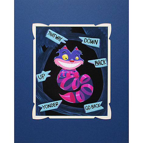 Cheshire Cat ''Not All There'' Deluxe Print by Kristin Tercek