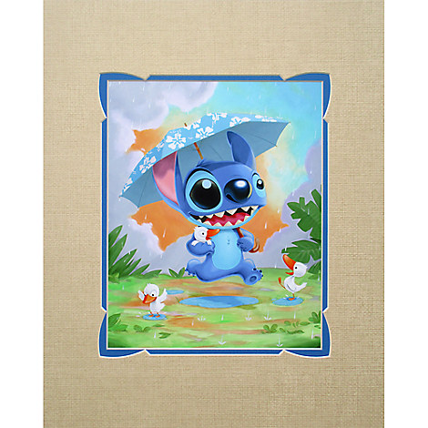 Stitch ''Rainy Day'' Deluxe Print by Kristin Tercek