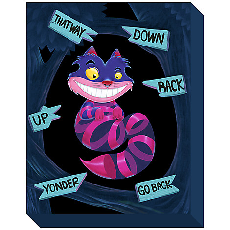 Cheshire Cat ''Not All There'' Limited Edition Giclée on Canvas by Kristin Tercek