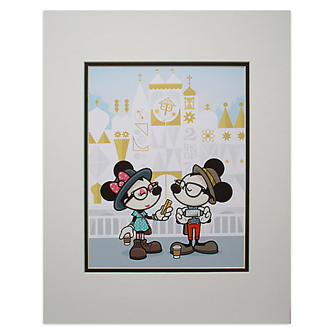 Mickey and Minnie Mouse ''Small World Selfies'' Deluxe Print by Jerrod Maruyama - 18'' x 14''