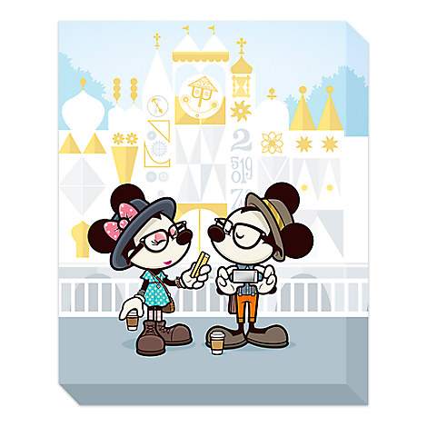 Mickey and Minnie Mouse ''Small World Selfies'' Giclée by Jerrod Maruyama - Large - Limited Edition